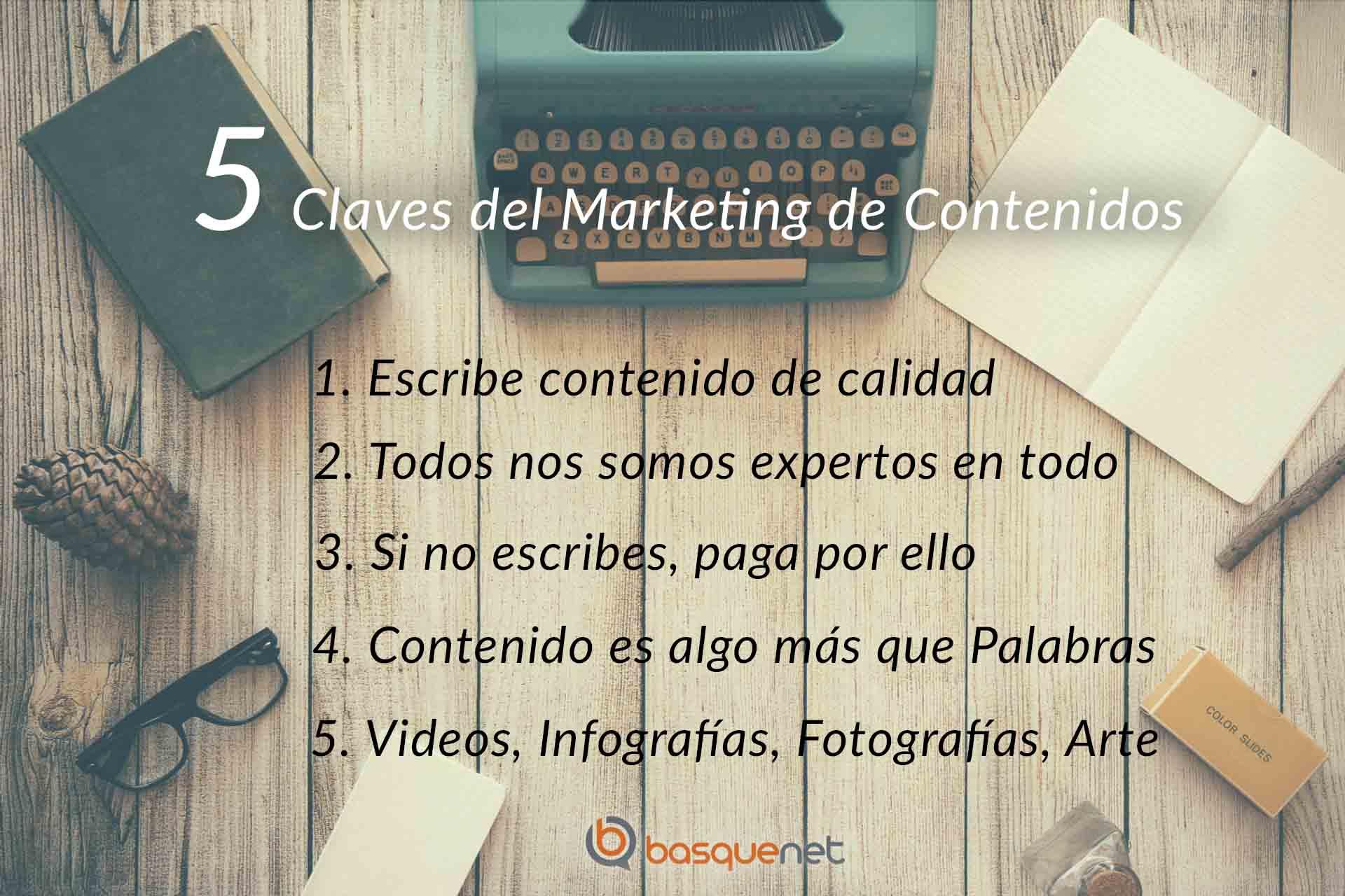 5 claves del Marketing de Contenidos