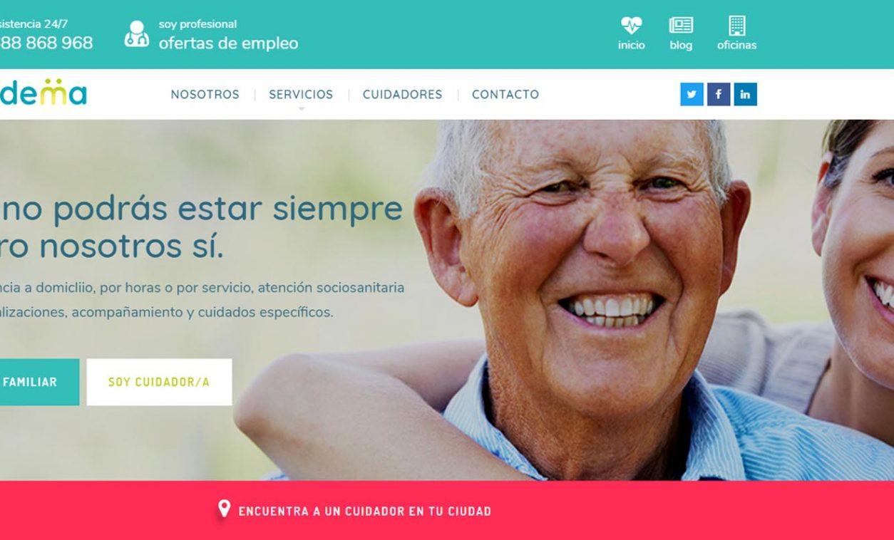 Diseño Web y Logotipo Cuidema