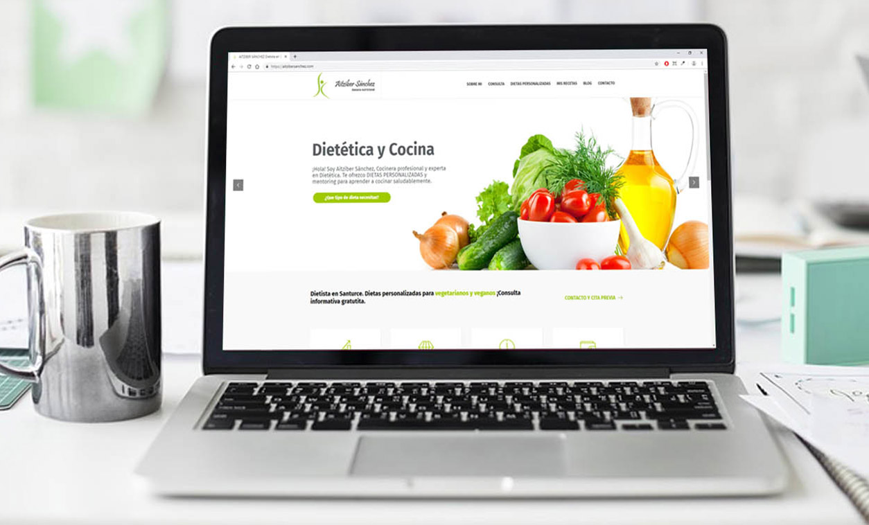 Diseño Web Aitziber Sánchez Nutricionista