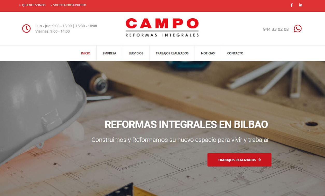 Diseño Web CAMPO Reformas Integrales