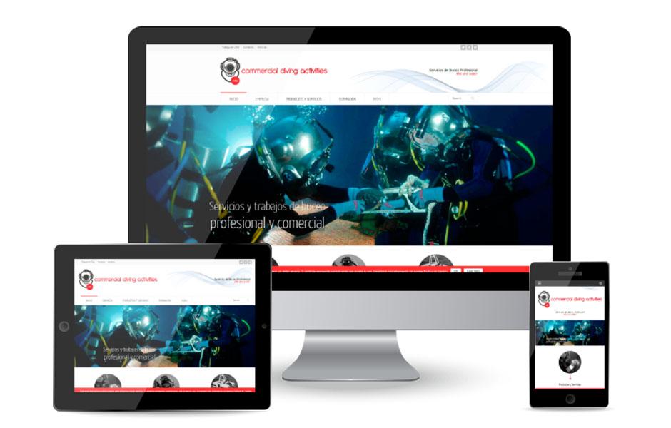 Rediseño Web CDA Comercial Diving Activities