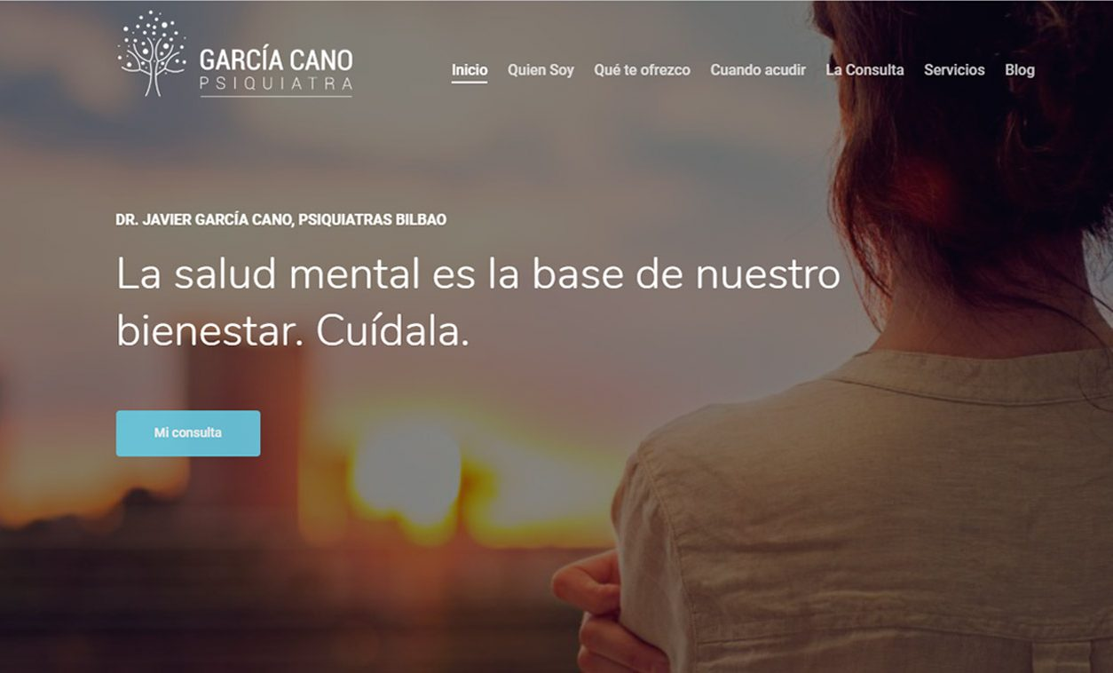 Diseño Web y logotipo GARCÍA CANO Psiquiatra