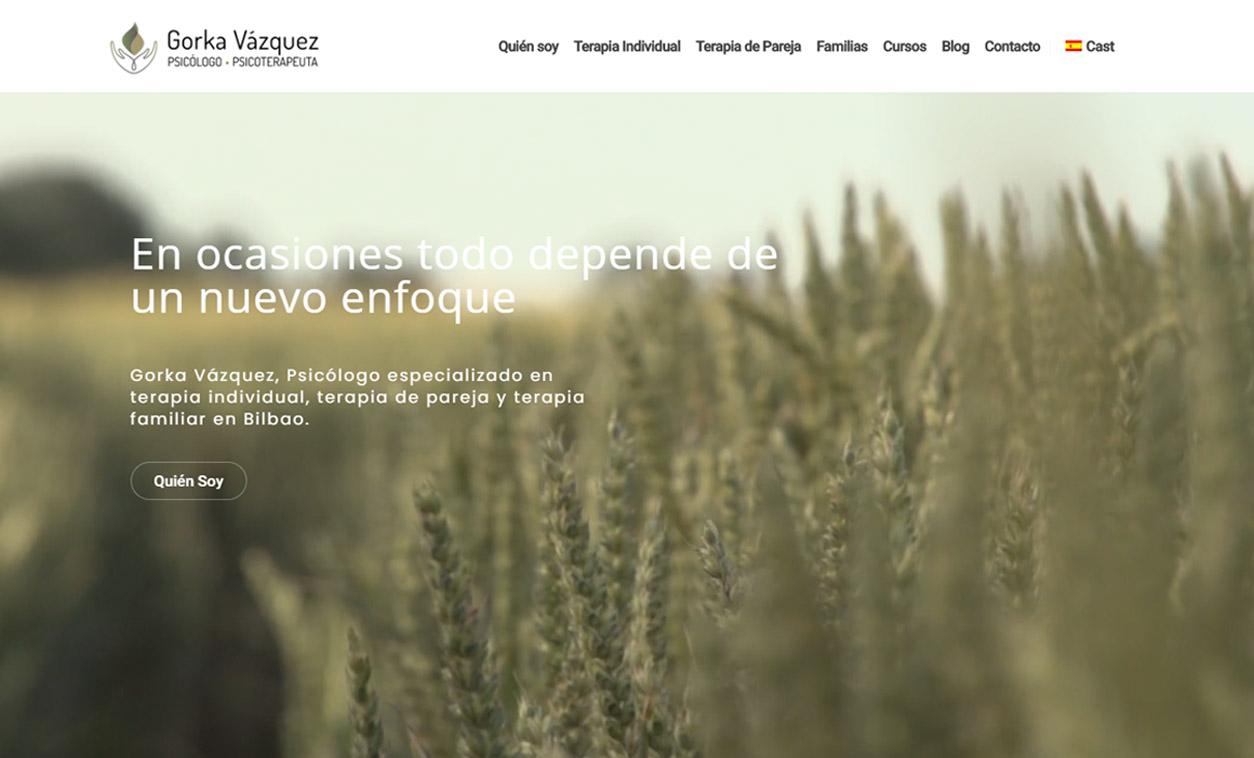 Diseño Web GORKA VÁZQUEZ Psicólogo