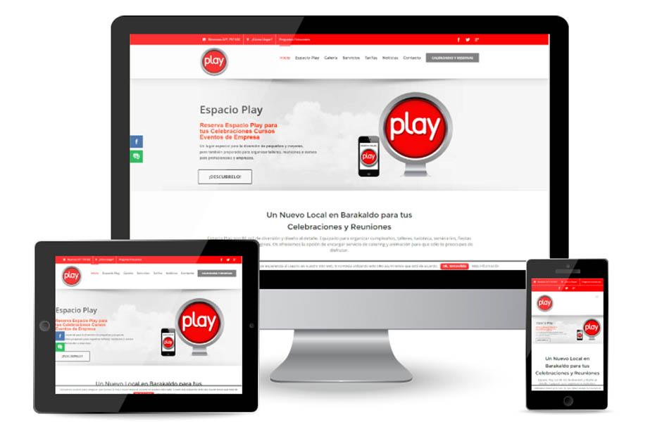 Diseño Weby Logotipo  ESPACIO PLAY