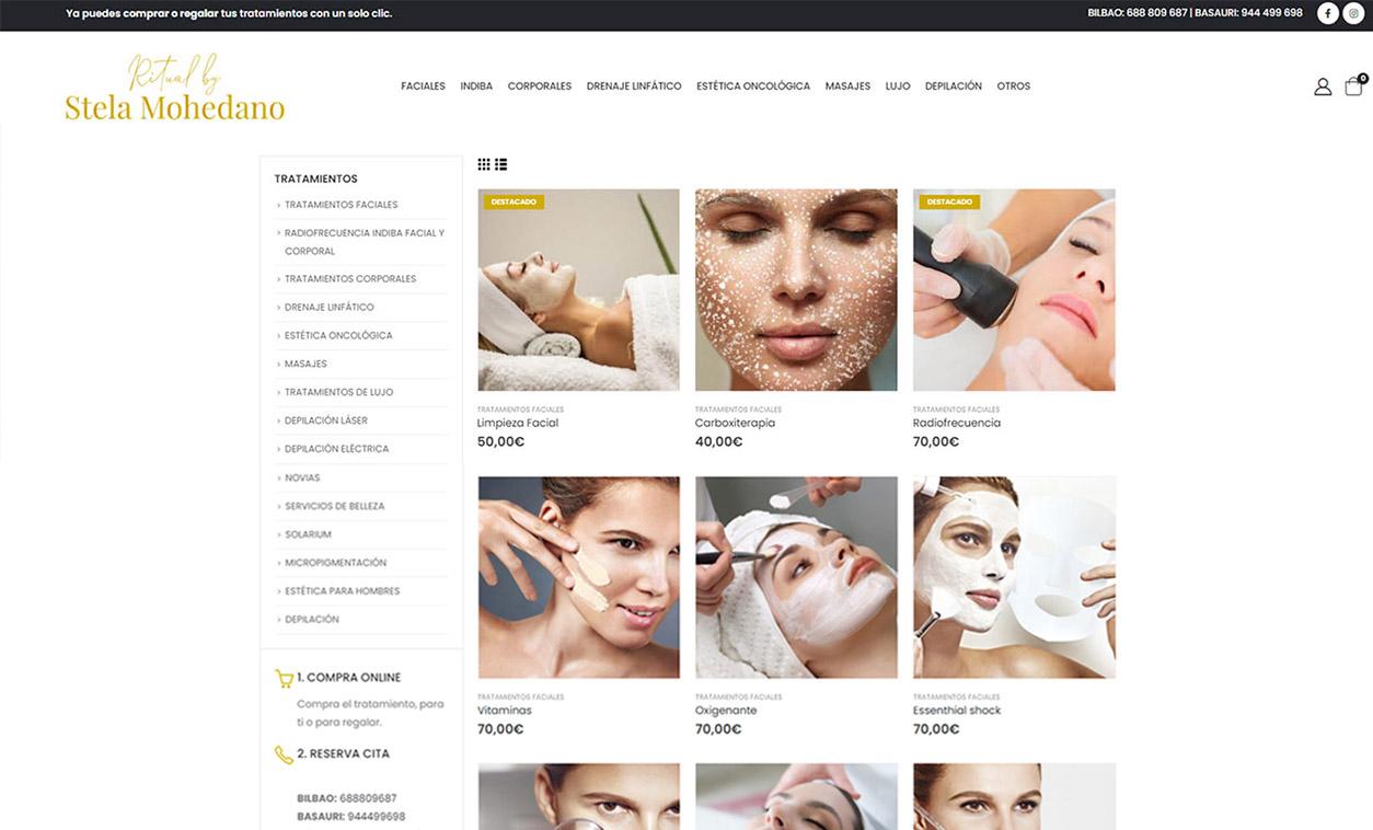 Diseño Web Tienda Online Stela Mohedano