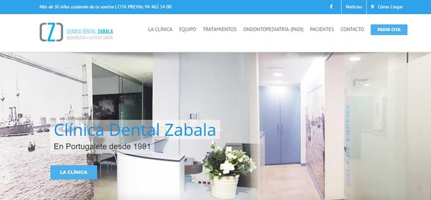 Rediseño Web Clínica Dental ZABALA