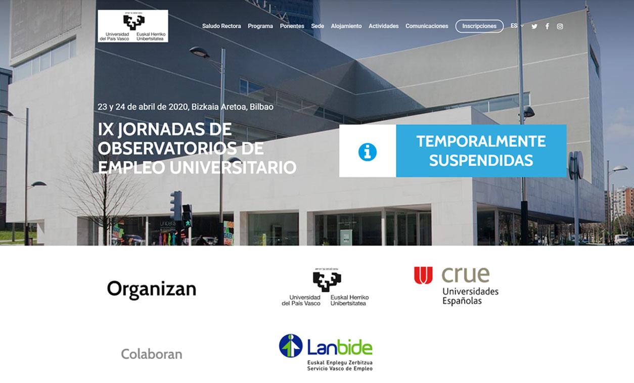 Diseño Web Observatorios de Empleo UPV/EHU